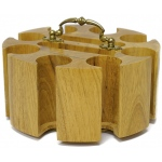 Casino Supply Oak 200 Poker Chip Wood Carousel