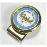 Casino Supply Gold Plated Poker Chip Money Clip Holder