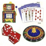Casino Supply Party Assorted Cutouts: 18 Inch, Package of 4