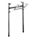 Casino Supply Folding Black Adjustable Poker Table Legs: Package of 2