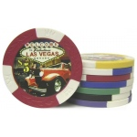 Casino Supply 11.5 Gram Classic Car Poker Chips: White - $1, 25 per Package