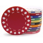 Casino Supply 11.5 Gram Diamond Two-Tone Poker Chips: Red, 25 per Package
