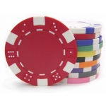 Casino Supply 11.5 Gram Dice Rim Poker Chips: Red, 25 per Package