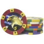 Casino Supply 11.5 Gram Eagle Poker Chips: Blue - $10, 25 per Package