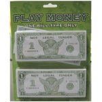 Casino Supply Paper Play Money Bulk: Denomination - $5, Package of 250