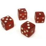 Casino Supply Dice Tops and Bottoms: Transparent Red, Missouts, 4,5,6 & 1,2,3