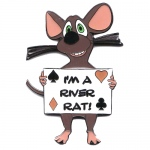 I'm A River Rat Medallion