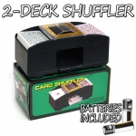 2 Deck Playing Card Shuffler w/ Batteries