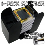 6 Deck Playing Card Shuffler w/ Batteries