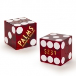Pair (2) of Palms 19 MM Official Casino Dice