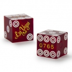 Pair (2) of Official 19mm Dice Used at the Las Vegas Casino