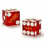 Pair (2) of Official 19mm Dice Used at the Rampart Casino