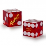Pair (2) of Official 19mm Dice Used at Tropicana Casinos