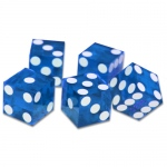 (5) New Blue 19mm Grd A Precision Dice w/Matching Serial #s