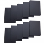 Set of 10 Black Plastic Poker Size Cut Cards