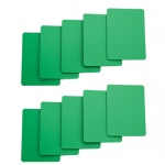 Set of 10 Green Plastic Poker Size Cut Cards