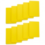 Set of 10 Yellow Plastic Bridge Size Cut Cards