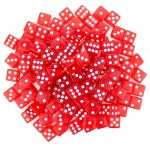100 Red Dice - 16 mm
