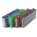 400 Ct. 16mm Dice - Red, Blue, Green, Purple