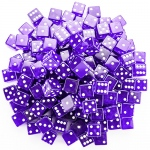 100 Purple Dice - 19 mm