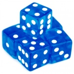 5 Blue Dice - 19 mm