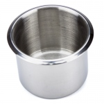 Small, Standard Stainless Steel Drop In Cup Holder