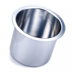 Vivid Silver Aluminum Cup Holder