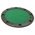 "48"" Round Poker Table Top w/ Padded Rail - Green"