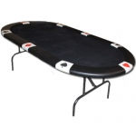 Black Felt Poker Table w/ Card Suit Rail 82x42