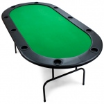82 x 42inch Green Poker Table with Ten Cup Holders