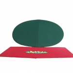 "Rollout Gaming 48""x82"" Red/Green Neoprene Playing Surface"