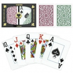 Copag 1546 Poker Green/Burgundy Jumbo