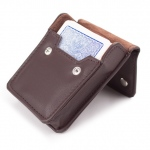 Copag 4 Color Regular Index deck - Blue in leather case