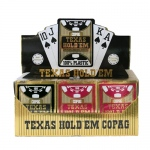 12 Deck Hold Em Series Burgundy/Black Jumbo Index Retail Box