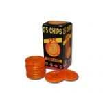 25 Pack of Modiano Composite Chips 4 gram - $2