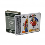 100% PLASTIC Deck of Toscane Italian Regional Playing Cards