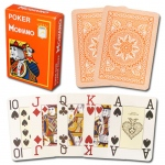 Modiano Cristallo Poker Size, 4 PIP Jumbo Orange