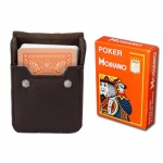 Orange Modiano Cristallo, Poker Size, 4 PIP w/ Leather Case
