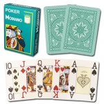 Modiano Cristallo Poker Size, 4 PIP Jumbo Dark Green