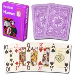 Modiano Cristallo Poker Size, 4 PIP Jumbo Purple