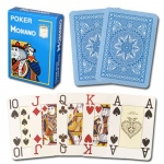 Modiano Cristallo Poker Size, 4 PIP Jumbo Light Blue