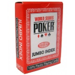 Modiano WSOP Plastic Playing Cards - Red Deck