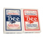 Bee No. 92 Diamond Back Club Special Red/Blue Decks - Jumbo