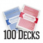 100 Decks Brybelly Playing Cards (Wide Size, Jumbo Index)
