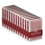 12 Red Decks of Pinochle Playing Cards