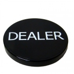 Black Plastic Dealer Button