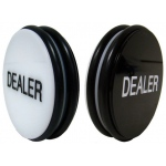 "2 Sided Black/White 3"" Dealer Puck"