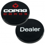 Plastic Copag Dealer Button - Black