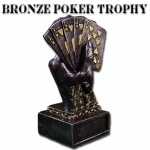 Bronze Metal Poker Trophy