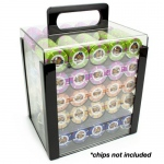 1,000 Ct Acrylic Chip Carrier with 10 Acrylic Chip Trays